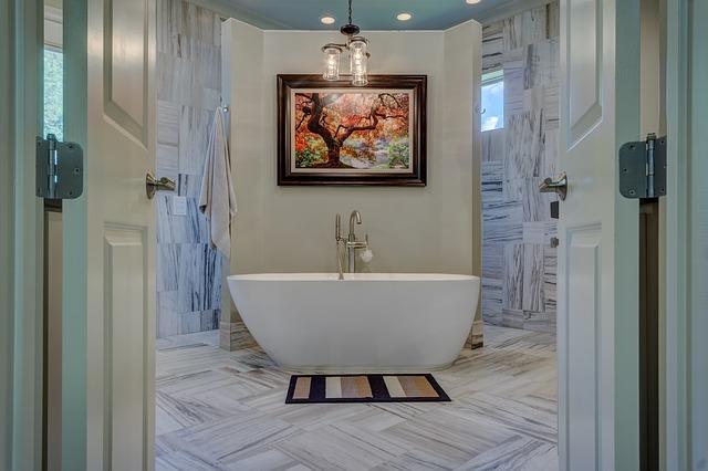ריצוף מצויר לאמבטיה